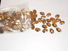10 acrylic Sew On Stitch on GOLD Jewel 18mm GEM CRYSTAL RHINESTONE trim DANCE