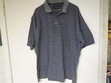 Greg Norman Blue / Gray Stripe Short Sleeve Polo Style Shirt