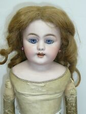 "22"" Antique German S&H Bisque Doll w/Blue Eyes, Sold As Found"