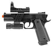 AIRSOFT SPRING PISTOL HAND GUN w/ LASER SIGHT & FLASHLIGHT G153BAF 6mm BB BBs