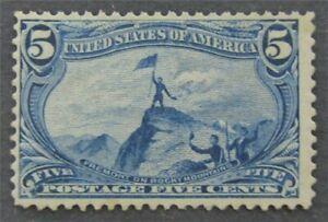 nystamps US Stamp # 288 Mint OG H $110   L30x1408