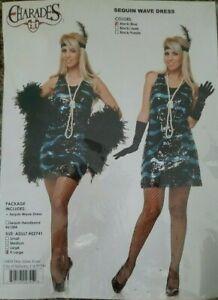 1920s Gatsby Flapper Sequin Dress Halloween Costume XL