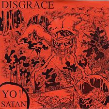 7inch DISGRACE yo Satan HOLLAND 1989 EX+  PUNK ORANGE COVER