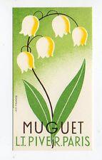 Ancienne carte parfumée Parfum Muguet Piver Paris