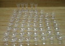 Lot of 67 Clear Plastic Cocktail Cordial Drink Glasses Party Tableware Supplies
