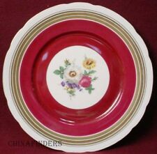 F & B BARONET china MULTICOLOR FLORAL center WINE BAND pattern SERVICE PLATE