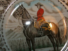 WOOD & SONS PLATE ROYAL CANADIAN MOUNTED POLICE HORSE