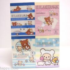 San-X Rilakkuma Stationery – Stripes Everyday Series Mini Memo Pad 4 of Set