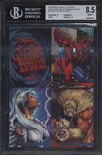1995 Flair Marvel Annual 5x7 Promo NM-M BGS 8.5 Spider Man Sabertooth Hobgoblin