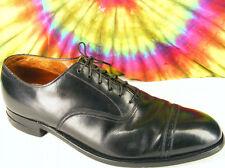 10 B mens vintage 40s black leather FRENCH SHRINER URNER cap-toe oxfords shoes