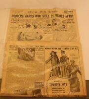 2 Vintage Chicago Newspapers