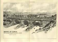 1907 Bridge At Lisbon To Be Executed In Granite & Concrete Godfrey Page