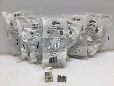 M1107322158 Modular 6 Conductor Telecommunications Outlet, Ivory, (8 Pack)