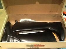 Women's Tuff Rider Black Leather Zip Up Tall Riding Boots Size 8.5 W
