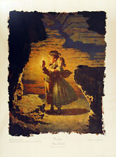 """NORMAN ROCKWELL """"TOM, TOM, WE'RE LOST! WE'RE LOST!""""   TOM SAWYER   COLLOTYPE"""