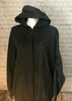 RIP CURL  LIVE THE SEARCH  Men's Gray Full Zip Hoodie Jacket size Medium