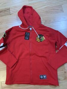 Fanatics NHL Chicago Blackhawks Full Zip Jacket Top Sz L BNwT Cotton Blend Red