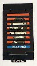 Vintage Topps Push Pull Abraham Lincoln John F Kennedy card #21 1965 65