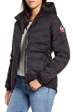 NEW Canada Goose Camp Down Hooded Water Resistant Jacket - Black - XS