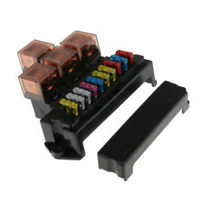 Universal 4 Relay Fuse Box Block Fuse Holder Car Vehicle Auto Blade LED