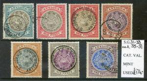 Antigua 1903 Edward 7th values to 1sh good to fine used (2020/03/16#04)