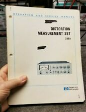 HP / Agilent 339A Distortion Measurement Set Operating + Service Manual