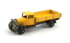 Vintage Dinky Toys 25e Tipping Wagon - Type 4 Black Chassis, Yellow Body 1948-50