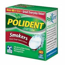 Polident Smokers, Antibacterial Denture Cleanser 40 ea