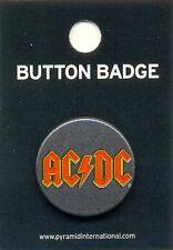 AC/DC Logo 25mm Button Badge Pin Official Carded