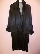 Original 1920's Black Satin Opera Coat