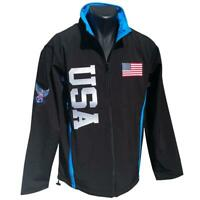 Embroidered American Flag Stars And Stripes USA Men's Zipper Jacket