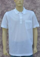 BRIONI New sz M Authentic Designer Mens Luxury Cotton Polo Shirt white