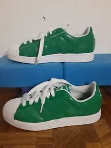 Adidas Mens Shoes 9 Green Shoe With Classic Green 3 Stripes Rare find