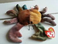 Ty Beanie Babies Baby Claude The Crab - Very Rare