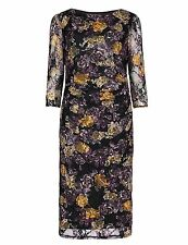 Marks and Spencer Women's 3/4 Sleeve Floral Dresses Midi