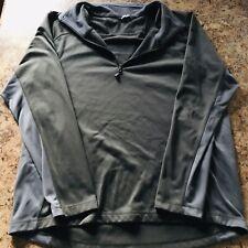 The North Face Mens XL Black Blue Quarter Zip Sweater Coat