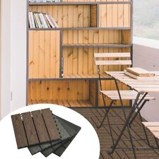WPC Terrassenfliesen Balkonfliese Bodenplatten Fliese Garten Grundfläche Fliese