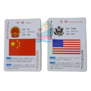 Collectible Playing card/Poker Deck 54 cards of World National Flags and Emblems