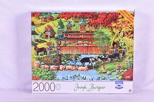 """Milton Bradley : 2000 Piece Joseph Burgess Washday Bridge Jigsaw Puzzle 32 x 24"""""""