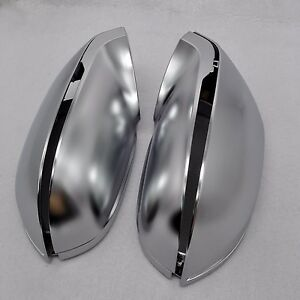 for AUDI A7 4G8 10-17 car mirror cover housing alu matt silver With side assist