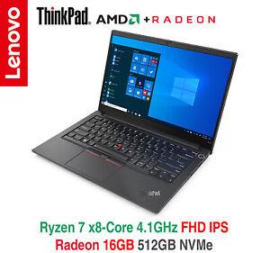 ThinkPad E14 Gen 2 Ryzen 7 4700U FHD IPS 16GB 512GB NVMe BL 2Y Premier Warranty