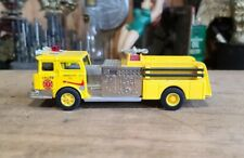 Vintage CORGI Mack CF Pumper Fire Engine Yellow Die Cast Truck