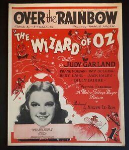 1939 Wizard of Oz/ Over the Rainbow Original Sheet Music. Judy Garland. Home Art