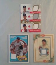CURT SCHILLING  game used lot topps UD  2006 2008 2009