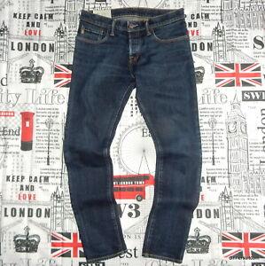 mens W31 L30 Abercrombie & Fitch 'SUPER SKINNY' Jeans Indigo Blue Stretch Denim