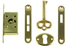 Gold Plated Jewelry Box Lock Set ~   { Full Mortise } ~ by  PLD