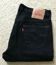 Mens Levis 501 XX classic straight leg black denim jeans W 36 L 33