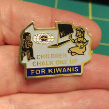 Kiwanis Pin - Children Chalk One Up For Kiwanis -  Kiwanis Club Pin