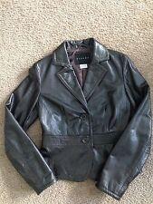 Sisley Brown leather jacket  Size US : 4 ( EU 40 )