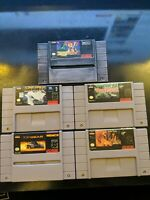 Lot of 5 SNES Games ALL GAMES TESTED AND WORKS!!!